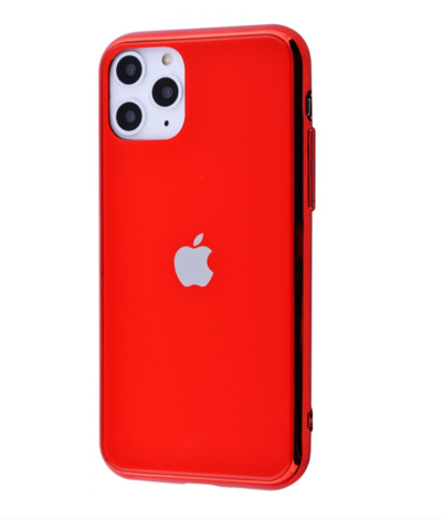 Чехол iPhone 11 Pro Max Glass Case Logo /red/