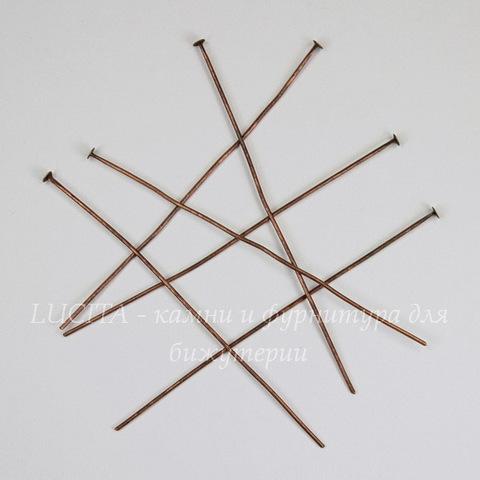 Комплект пинов - гвоздиков 70х0,8 мм (цвет - античная медь), 40 гр (примерно 144 шт)
