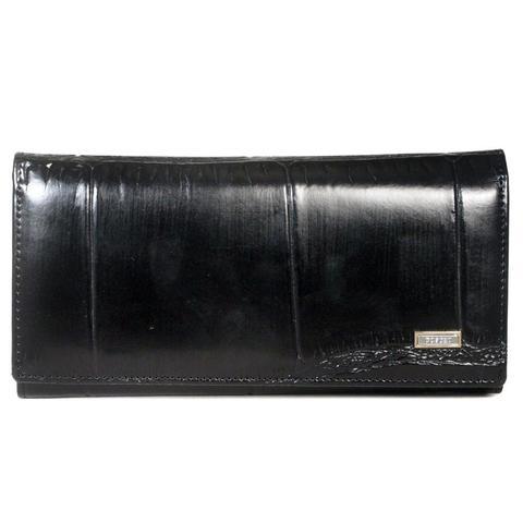 Чёрный кошелёк женский Coscet нат.кожа CS25-201A