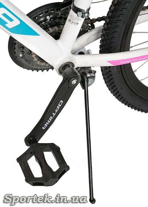 Подножка, педаль и шатун горного женского велосипеда Optimabikes Alpina DD