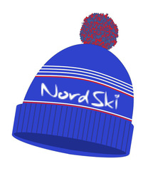 Шапка Nordski Stripe Blue