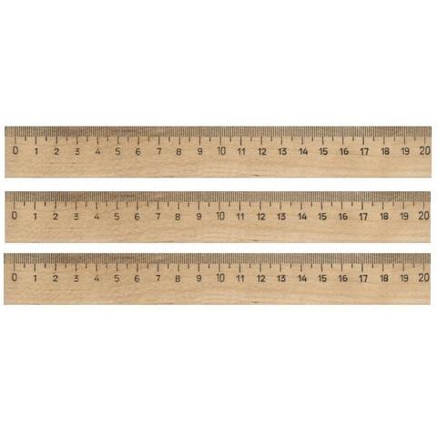 Линейка деревянная 20см 3шт/уп
