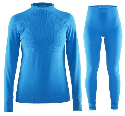 Женское теплое термобелье Craft Warm 1903720-1320-1903718-1320 голубой фото