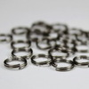Комплект двойных колечек 8х1,4 мм (цвет - черный никель), 20 гр (примерно 130 шт)