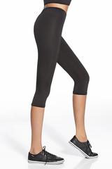 Легинсы-бриджи для фитнеса черные