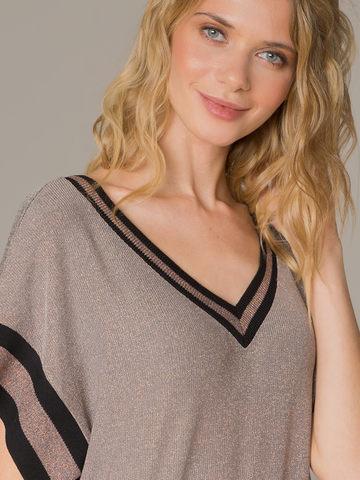 Женское платье медного цвета с разрезами - фото 2
