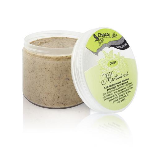 Гель-скраб для ног смузи Мятный Чай дезодорирующий | ChocoLatte