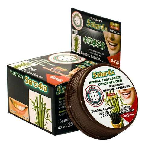 Зубная паста 5Star4a Herbal concentrated toothpaste bamboo charcoal