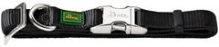 Ошейник для собак Hunter ALU-Strong S (30-45 см) нейлон с металлической застежкой черный