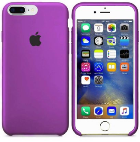 iPhone 7Plus/8Plus Silicone Case Purple