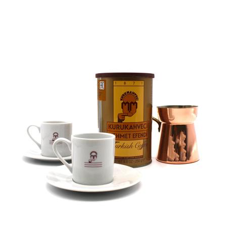 Подарочный набор Mehmet Efendi (кофе молотый, турка и чашки)