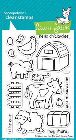 "Набор штампов   "" critters on the farm"""