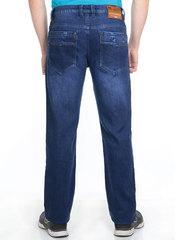 M51-G1195L джинсы мужские утепленные, синие