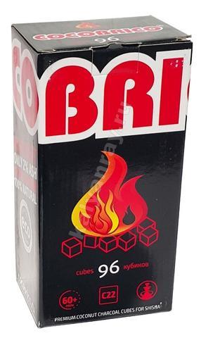 Кокосовый уголь для кальяна Cocobrico 1 кг 96 кубиков
