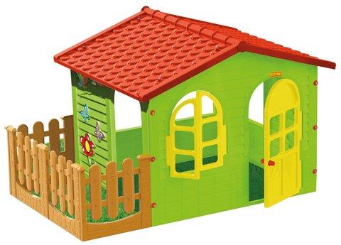 Домик с забором садовый