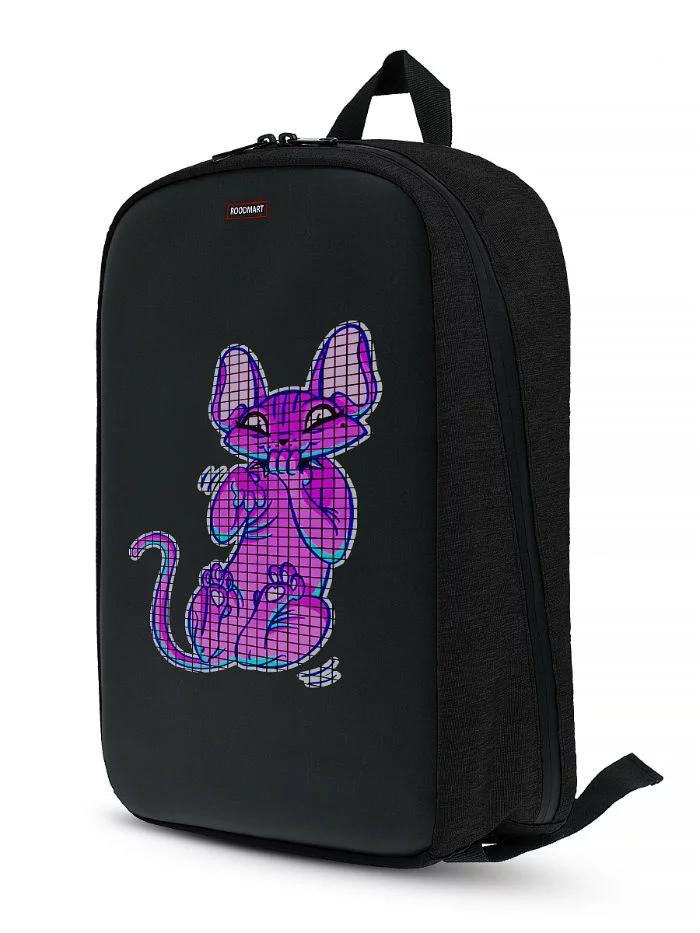 Рюкзак Roodmart с LED дисплеем BLACK