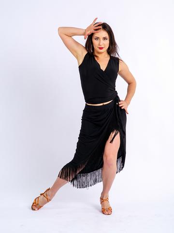 Юбка для танцев с бахромой