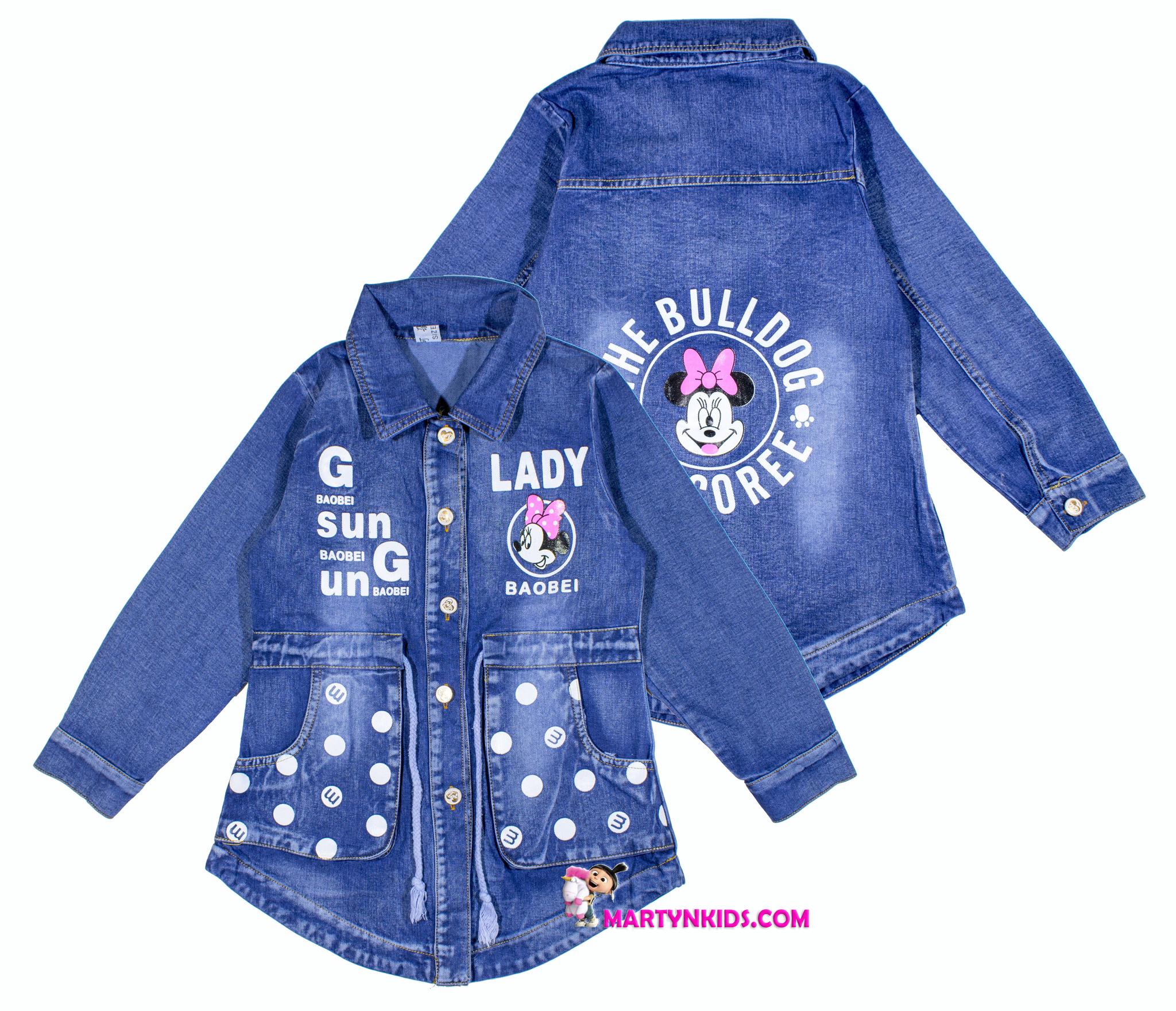 838 куртка джинсовая Микки