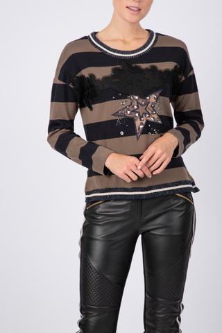 Пуловер в полоску  Nyneve Sportalm арт, 889051836