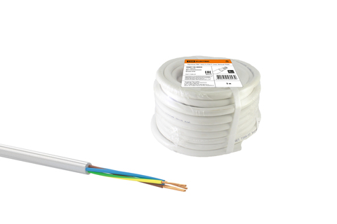 Провод ПВС 5х1 ГОСТ (30м), белый TDM