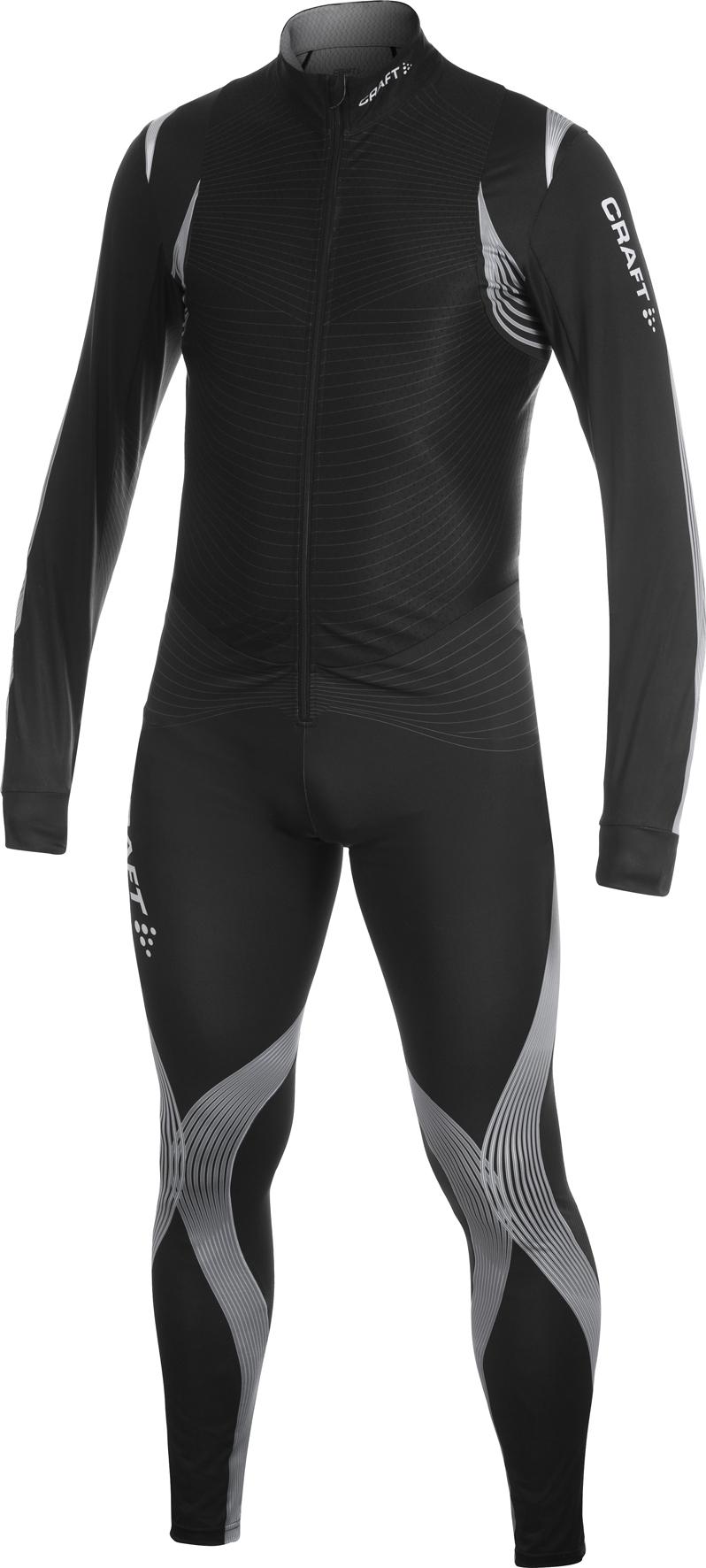 Мужской слитный лыжный гоночный комбинезон Craft Elite XC Suit  (1900982-9920) черный