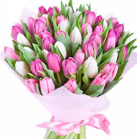 Букет из тюльпанов