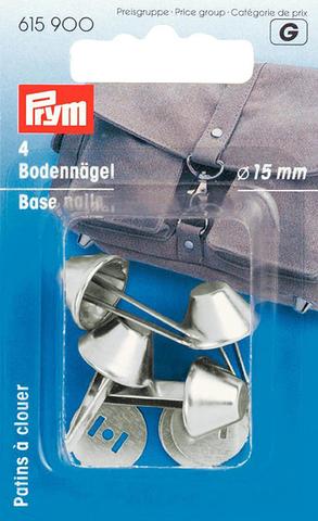 Ножки для дна сумки 15мм 4шт серебристые (Арт. 615900)