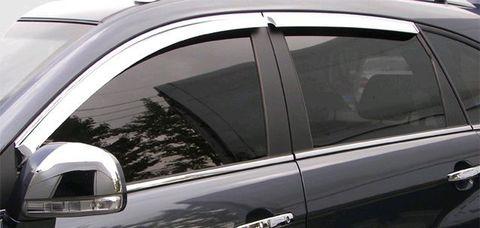 Дефлекторы окон (хром) V-STAR для Toyota Highlander 13- (CHR10898)