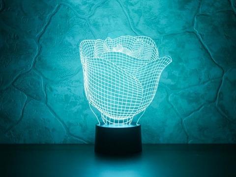3D лампа Бутон розы