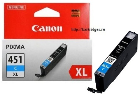 Картридж Canon CLI-451XL C / 6473B001