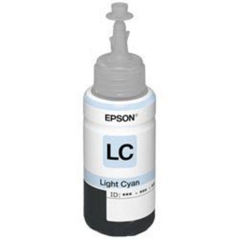 Чернила светло-голубые Epson L800, L850, L1800 - 70 мл (C13T67354A)