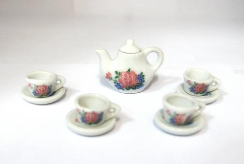 Чайный набор МИНИАТЮРА, 9 предметов, керамика.