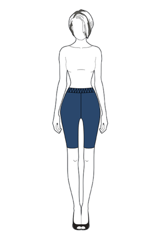 Выкройка эластичных бридж выше колена