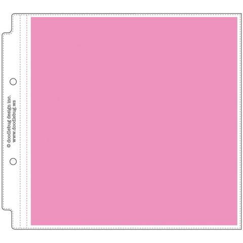 Набор файлов 20*20 см. Doodlebug Page Protectors-  12 штук