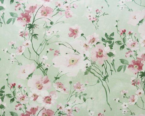 Портьерная хлопковая ткань в английском стиле Грасс розовый