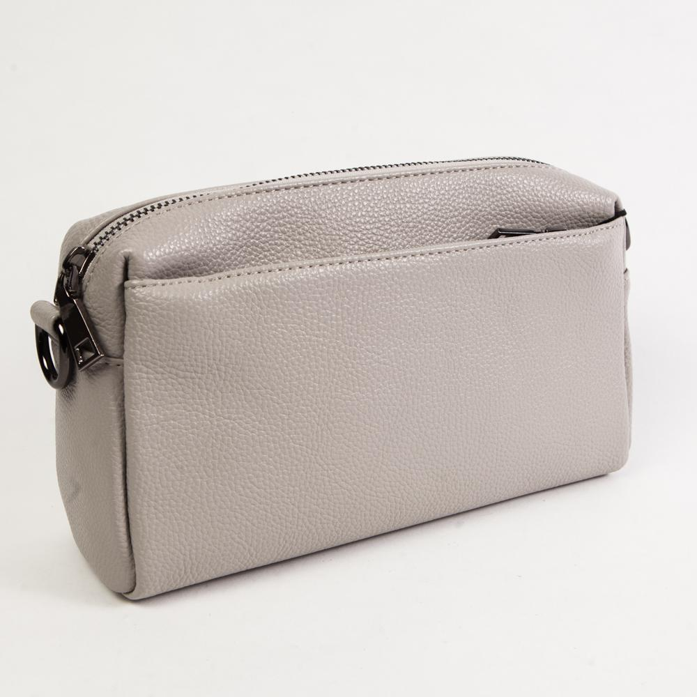 027359d98f81 Маленький стильный женский повседневный клатч сумочка светло-серого цвета  из экокожи Dublecity DC808-4