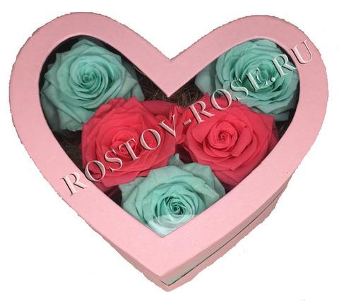 Розы стабилизированные - композиция Единственной - неповторимой