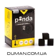 Натуральный кокосовый уголь Panda Black XL (Панда) для кальяна |1кг 72куб 25*25мм