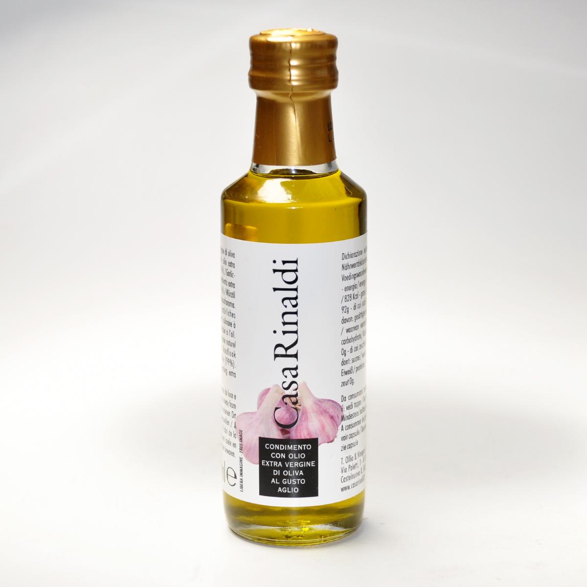 Масло оливковое EV  с чеснокоми  Casa Rinaldi 100мл