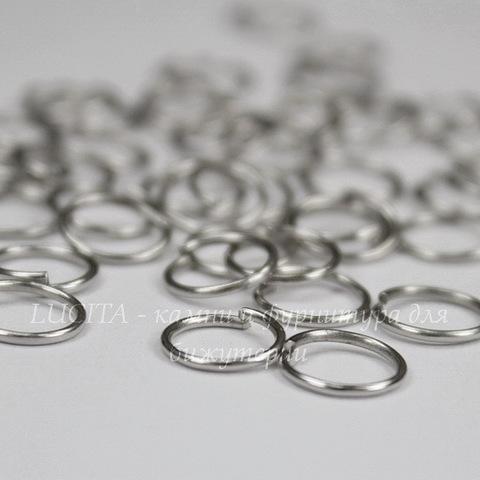Комплект колечек одинарных 8х0,8 мм (цвет - античное серебро), 20 гр (примерно 210 шт)