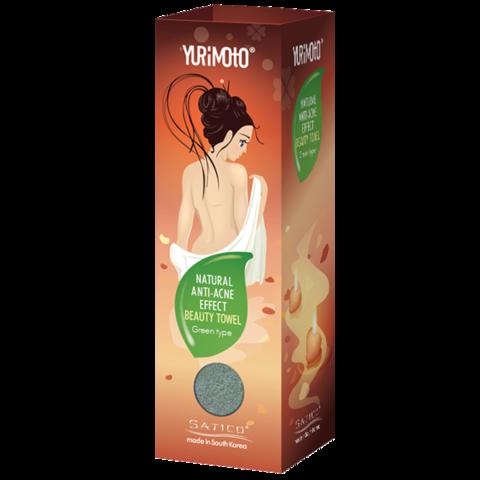 Satico YURIMOTO, Мочалка массажная Anti-acne с зеленым Чаем