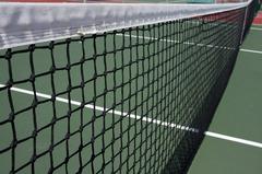 Сетка для большого тенниса ТРЕНИРОВОЧНАЯ d=2,6 (с тросом).