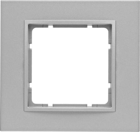 Рамка на 1 пост. Цвет Алюминий. Berker (Беркер). B.7. 10116424