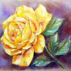 Золотая роза- алмазная картина