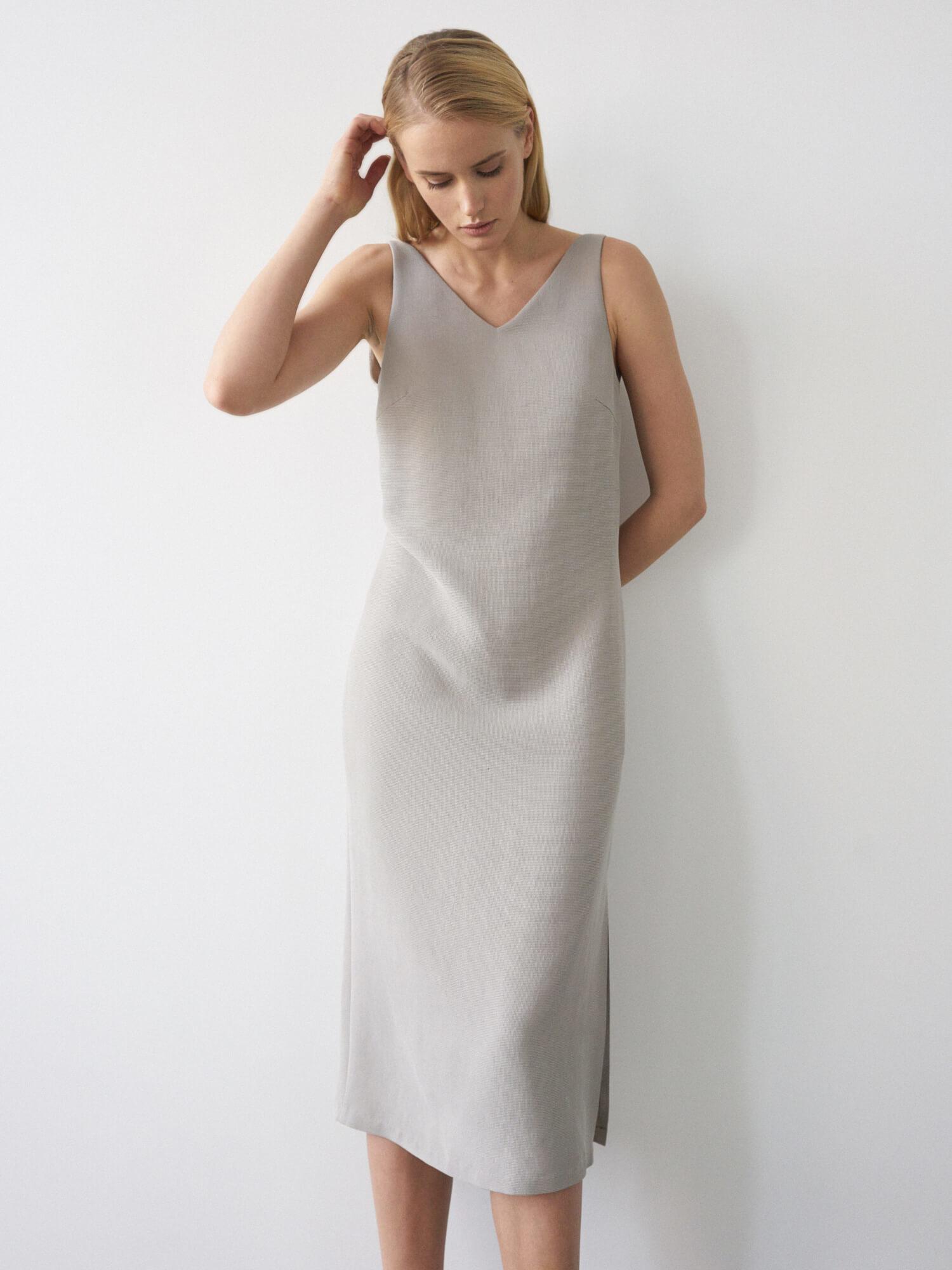 Платье Lana с глубоким вырезом