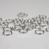 Комплект двойных колечек 7х1,2 мм (цвет - античное серебро), 20 гр (примерно 240 шт)