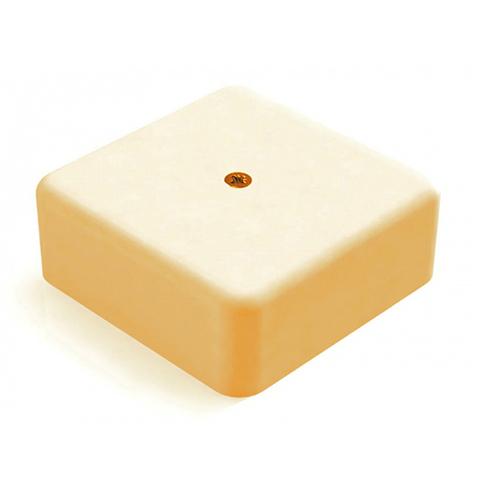 SD Коробка 1 постовая распред. 88x88x44мм. Цвет Бежевый. Ecoplast (ЭКОПЛАСТ). 72909BG