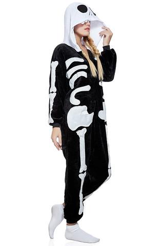 Пижама кигуруми Скелет 3