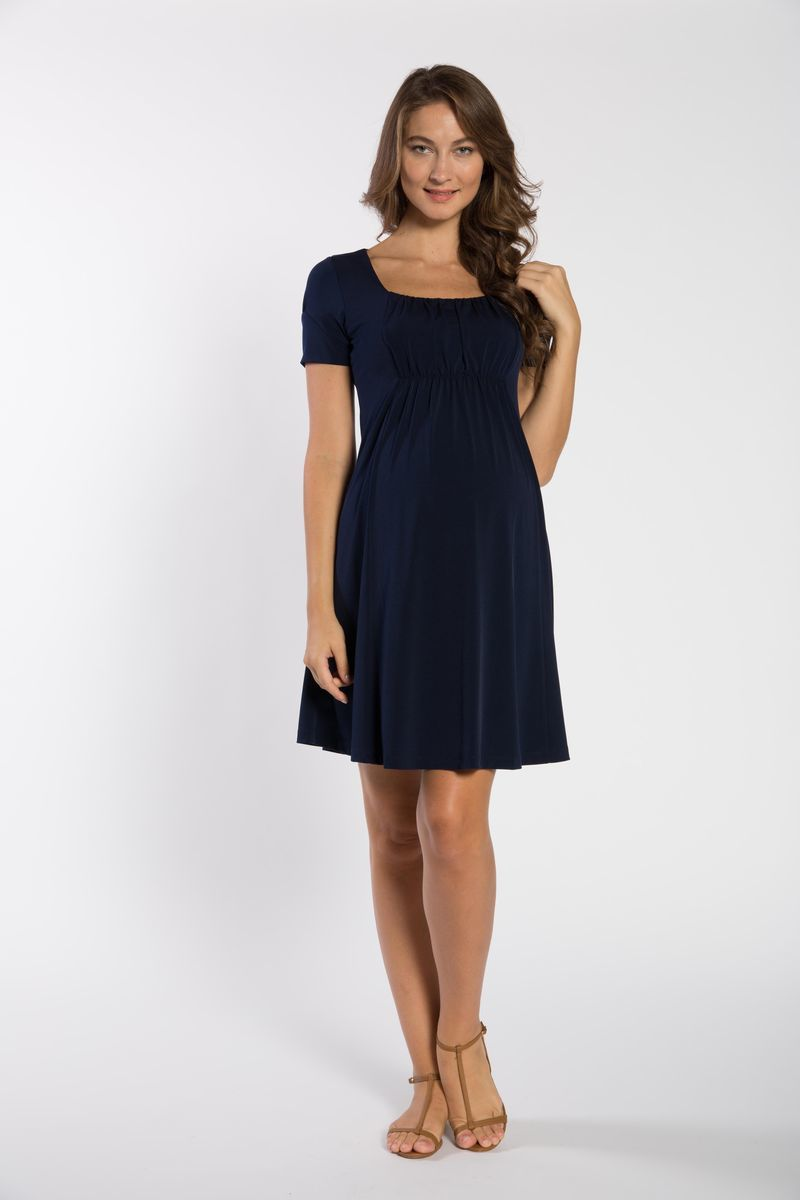 Платье для беременных 05655 синий