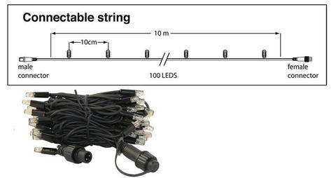 LED string Гирлянда на ПВХ проводе кабеле 10 м